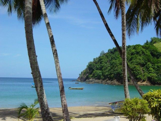 Tobago am Strand